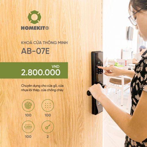 Khoá HomeKit AB-07E khóa vân tay 4in1