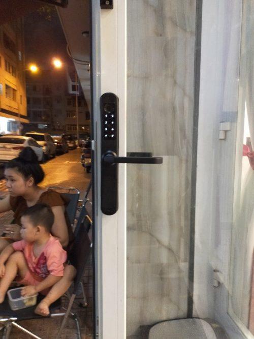 Khóa HomeKit AB-16E khóa vân tay 2 chiều chuyên lắp cho cửa đố hẹp với 4 tính năng